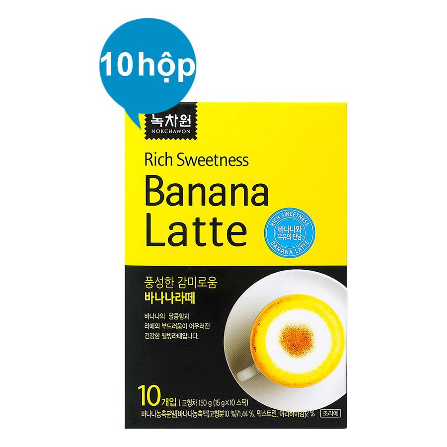 Combo 10 Hộp Sữa Chuối Nokchawon Banana Latte (10 Gói x 15g) - 3726024569862,62_884288,1470000,tiki.vn,Combo-10-Hop-Sua-Chuoi-Nokchawon-Banana-Latte-10-Goi-x-15g-62_884288,Combo 10 Hộp Sữa Chuối Nokchawon Banana Latte (10 Gói x 15g)