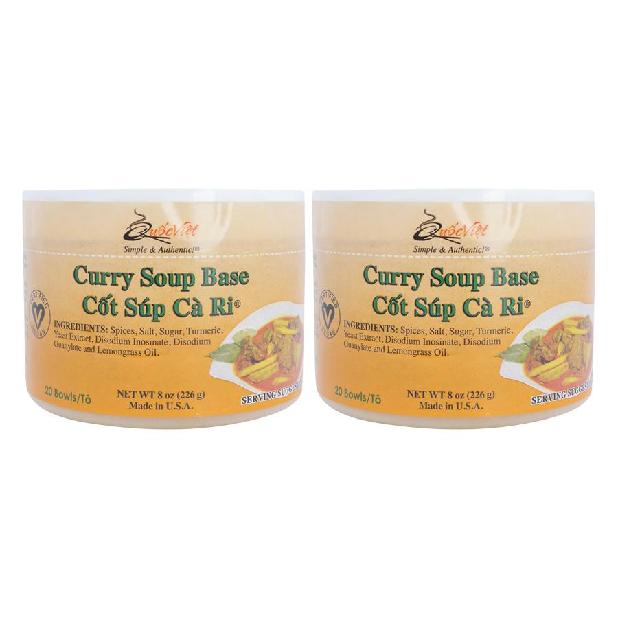 Bộ 2 Hộp Cốt Súp Cà Ri Quốc Việt Foods (283g/Hộp)