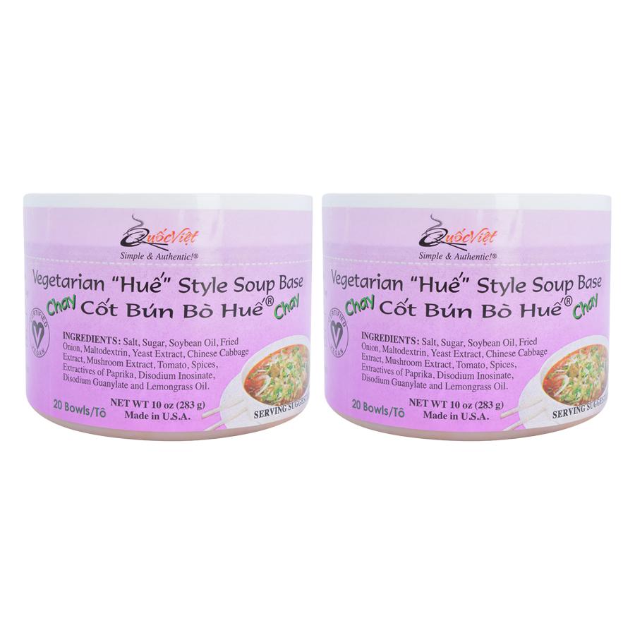 Bộ 2 Hộp Cốt Bún Bò Huế Chay Quốc Việt Foods (283g/Hộp)