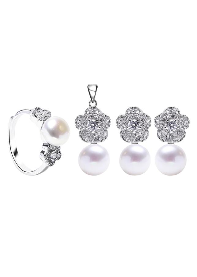 Bộ Trang Sức Bạc Tiffany Pearl Eropi 100080022