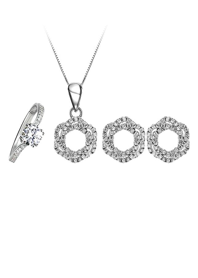 Bộ Trang Sức Bạc Spiral Of Love Eropi 100090001