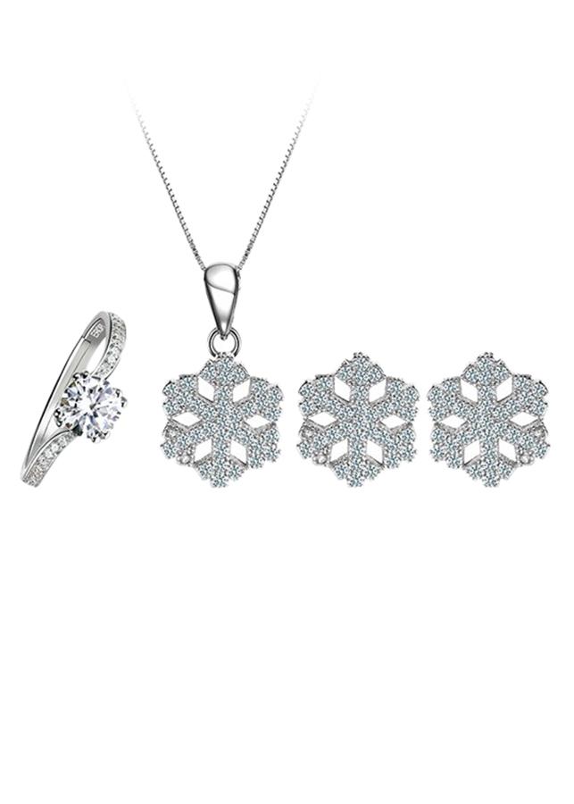 Bộ Trang Sức Bạc Special Snowflakes Eropi 100090002