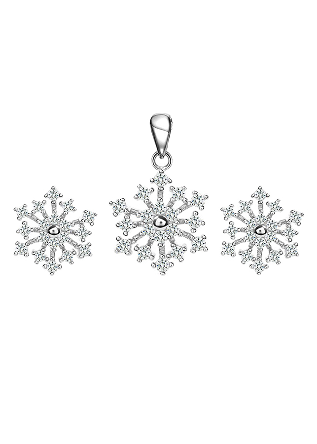 Bộ Trang Sức Bạc Little Snowflake Eropi 101070025