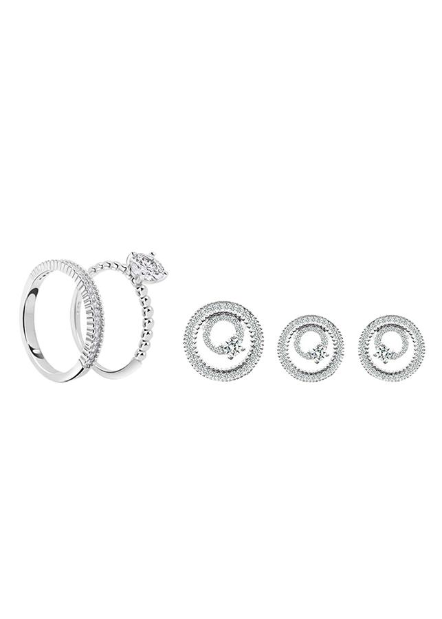 Bộ Trang Sức Bạc Luxury Circle Eropi 102080005