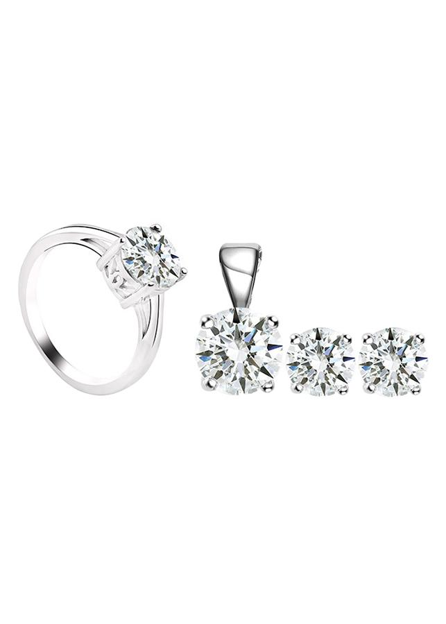 Bộ Trang Sức Bạc Crystal Love Eropi 102080033
