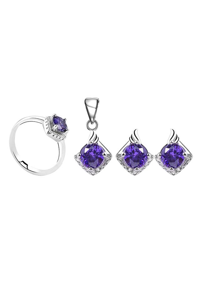 Bộ Trang Sức Bạc Purple Love Eropi 103080022