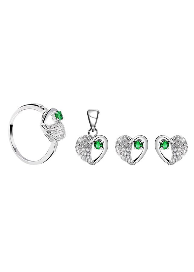 Bộ Trang Sức Bạc Green Heart Eropi 103080079