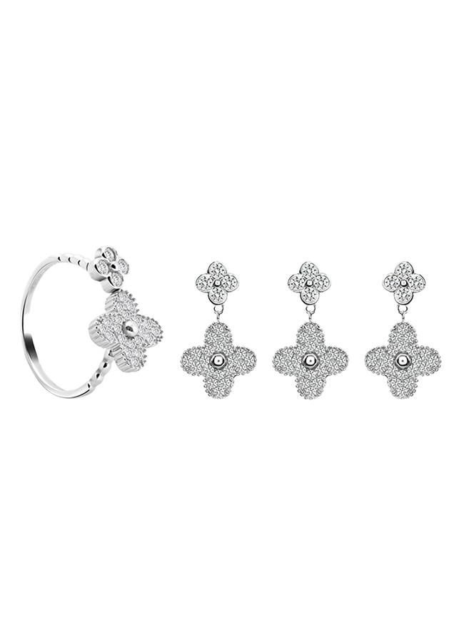 Bộ Trang Sức Bạc Luxury Flower Eropi 103080081