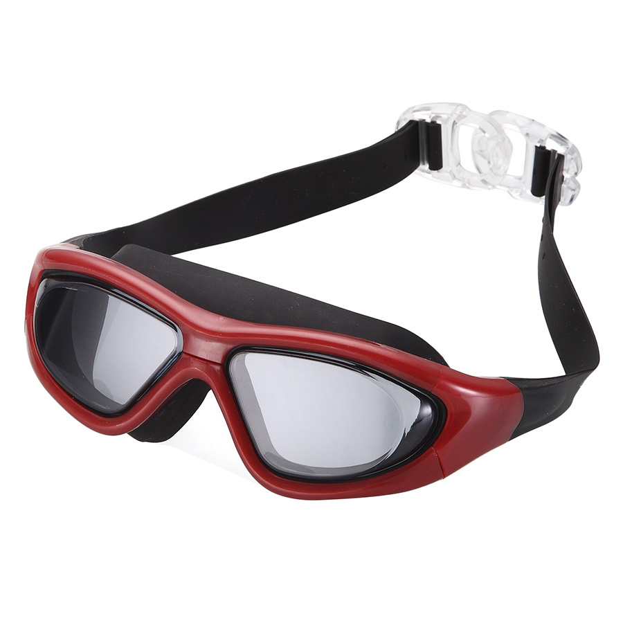 Kính Bơi Tầm Nhìn 180 Độ Chống Sương Mờ POPO Big Frame Red - Đỏ