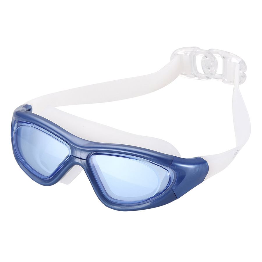 Kính Bơi Tầm Nhìn 180 Độ Chống Tia UV POPO Big Frame Blue - Xanh Dương
