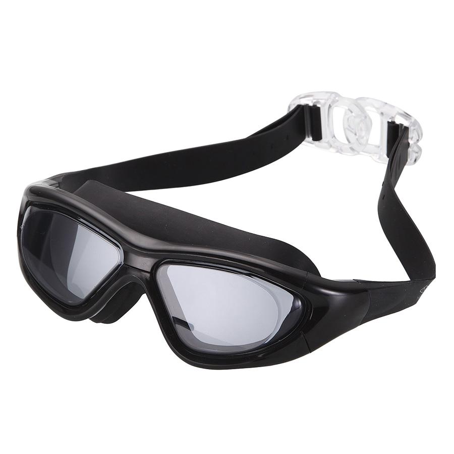 Kính Bơi Tầm Nhìn 180 Độ Chống Tia UV POPO Big Frame Black - Đen