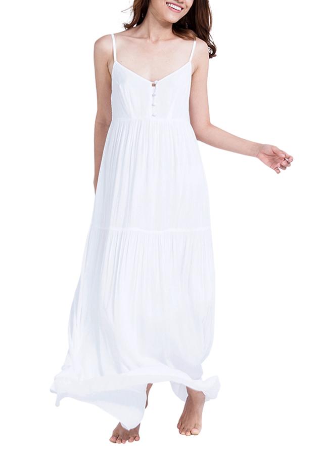 Đầm Maxi Hai Dây Hity DRE064-TRẮNG BLANC - Trắng Blanc