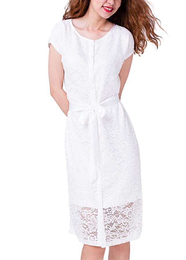 Đầm Ren Vintage Hity DRE045-TRẮNG BLANC - Trắng Blanc
