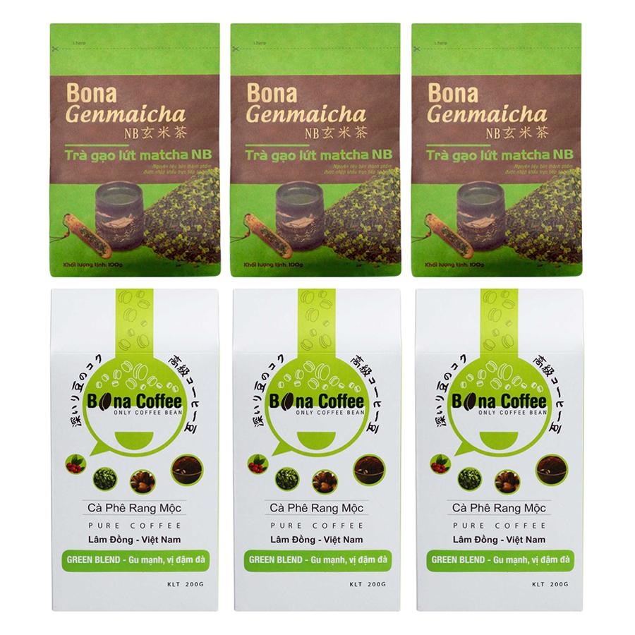 Bộ 3 Trà Xanh Gạo Lứt Matcha Nhật Bản Bona Genmaicha + 3 Cà Phê Rang Xay Nguyên Chất Bona Coffee Green Blend - 873118 , 3650930551126 , 62_897106 , 645000 , Bo-3-Tra-Xanh-Gao-Lut-Matcha-Nhat-Ban-Bona-Genmaicha-3-Ca-Phe-Rang-Xay-Nguyen-Chat-Bona-Coffee-Green-Blend-62_897106 , tiki.vn , Bộ 3 Trà Xanh Gạo Lứt Matcha Nhật Bản Bona Genmaicha + 3 Cà Phê Rang Xay Ng