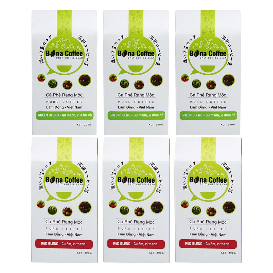 Bộ 3 Cà Phê Rang Xay Nguyên Chất Bona Coffee Green Blend + 3 Cà Phê Rang Xay Nguyên Chất Bona Coffee Red Blend - 873121 , 3659678673671 , 62_897178 , 435000 , Bo-3-Ca-Phe-Rang-Xay-Nguyen-Chat-Bona-Coffee-Green-Blend-3-Ca-Phe-Rang-Xay-Nguyen-Chat-Bona-Coffee-Red-Blend-62_897178 , tiki.vn , Bộ 3 Cà Phê Rang Xay Nguyên Chất Bona Coffee Green Blend + 3 Cà Phê Rang