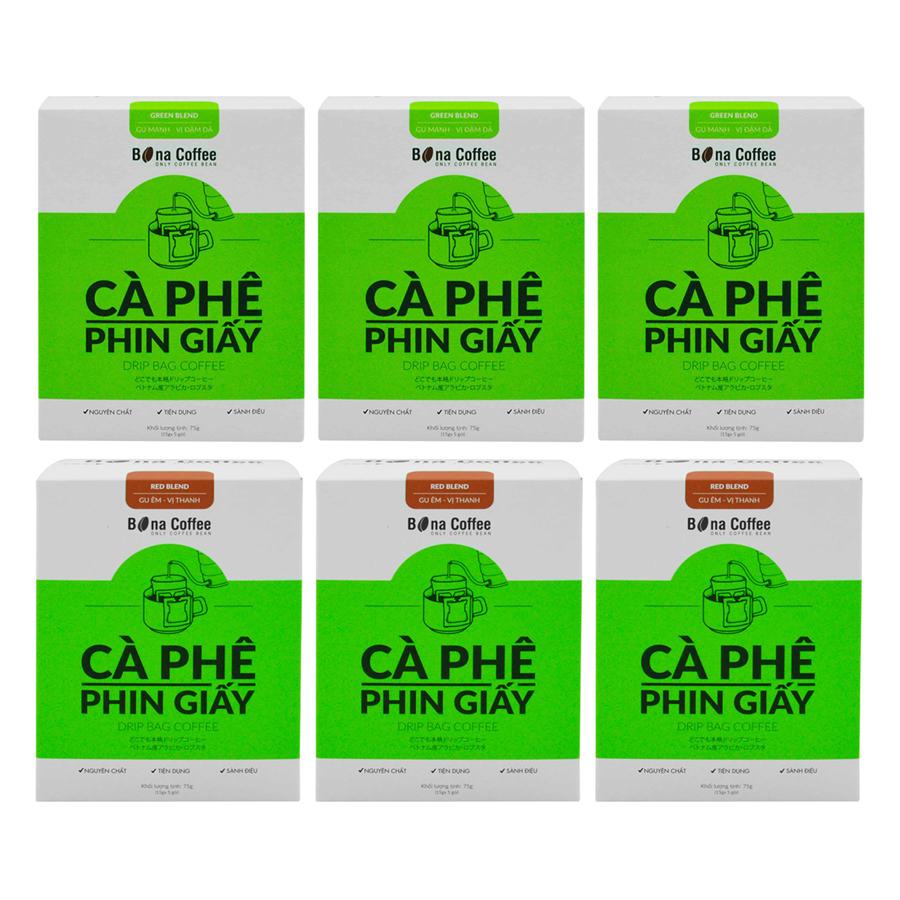 Bộ 3 Cà Phê Phin Giấy Bona Coffee Green Blend + 3 Cà Phê Phin Giấy Bona Coffee Red Blend - 873125 , 3652007217164 , 62_897112 , 441000 , Bo-3-Ca-Phe-Phin-Giay-Bona-Coffee-Green-Blend-3-Ca-Phe-Phin-Giay-Bona-Coffee-Red-Blend-62_897112 , tiki.vn , Bộ 3 Cà Phê Phin Giấy Bona Coffee Green Blend + 3 Cà Phê Phin Giấy Bona Coffee Red Blend