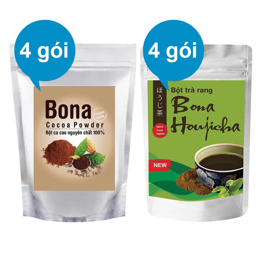 Bộ 4 Bột Cacao Cao Cấp Bona Cacao + 4 Bột Trà Rang Bona Houjicha - 873144 , 3767847256065 , 62_897464 , 848000 , Bo-4-Bot-Cacao-Cao-Cap-Bona-Cacao-4-Bot-Tra-Rang-Bona-Houjicha-62_897464 , tiki.vn , Bộ 4 Bột Cacao Cao Cấp Bona Cacao + 4 Bột Trà Rang Bona Houjicha