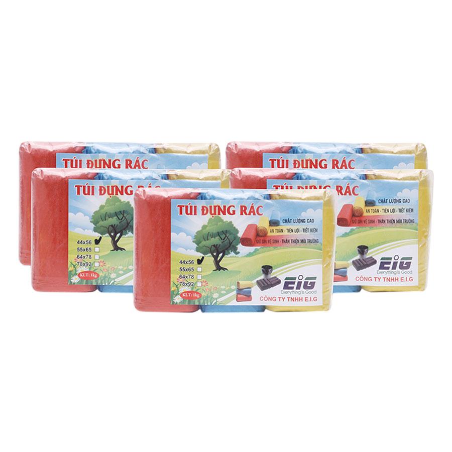 Combo 5kg Túi Đựng Rác Không Lõi EIG 5 EIG 4456 Size Nhỏ (44 x  56 cm) - Nhiều Màu