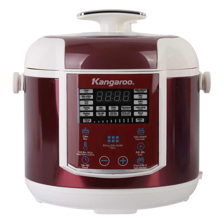 Nồi Áp Suất Điện Kangaroo KG281 (1000W) - Đỏ Đô