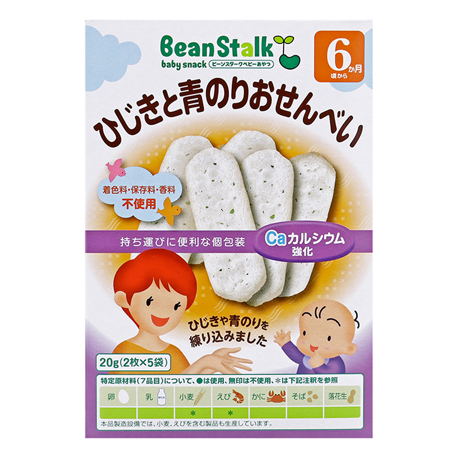 Bánh Gạo Rong Biển Hijiki Và Aonori Bean Stalk (20g) - 5188785274580,62_754024,82000,tiki.vn,Banh-Gao-Rong-Bien-Hijiki-Va-Aonori-Bean-Stalk-20g-62_754024,Bánh Gạo Rong Biển Hijiki Và Aonori Bean Stalk (20g)