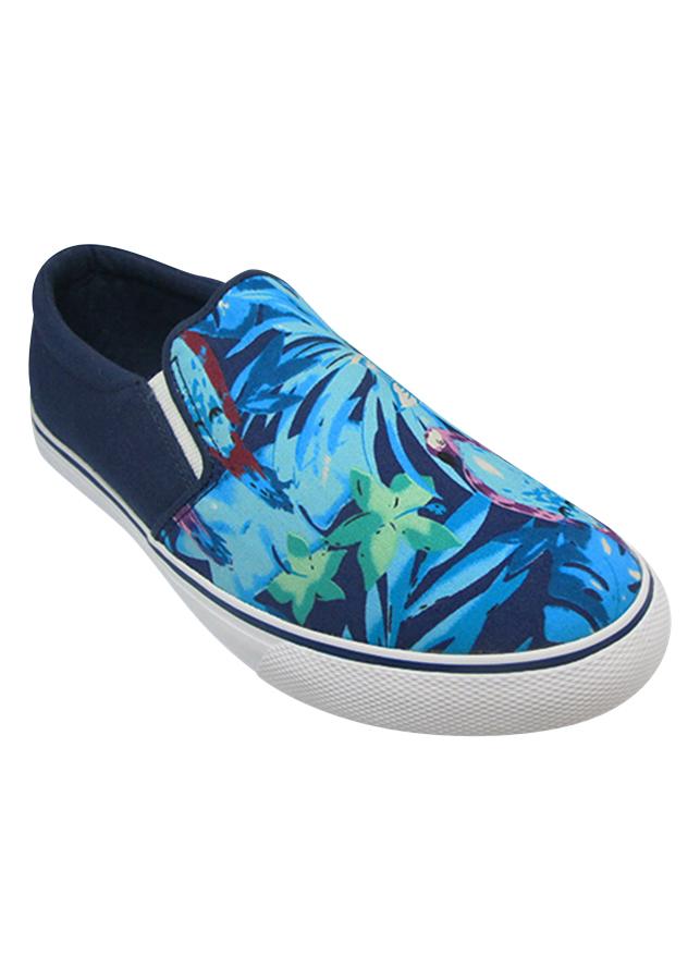 Giày Slip On Nữ Urban UL1709 - Hoa Xanh