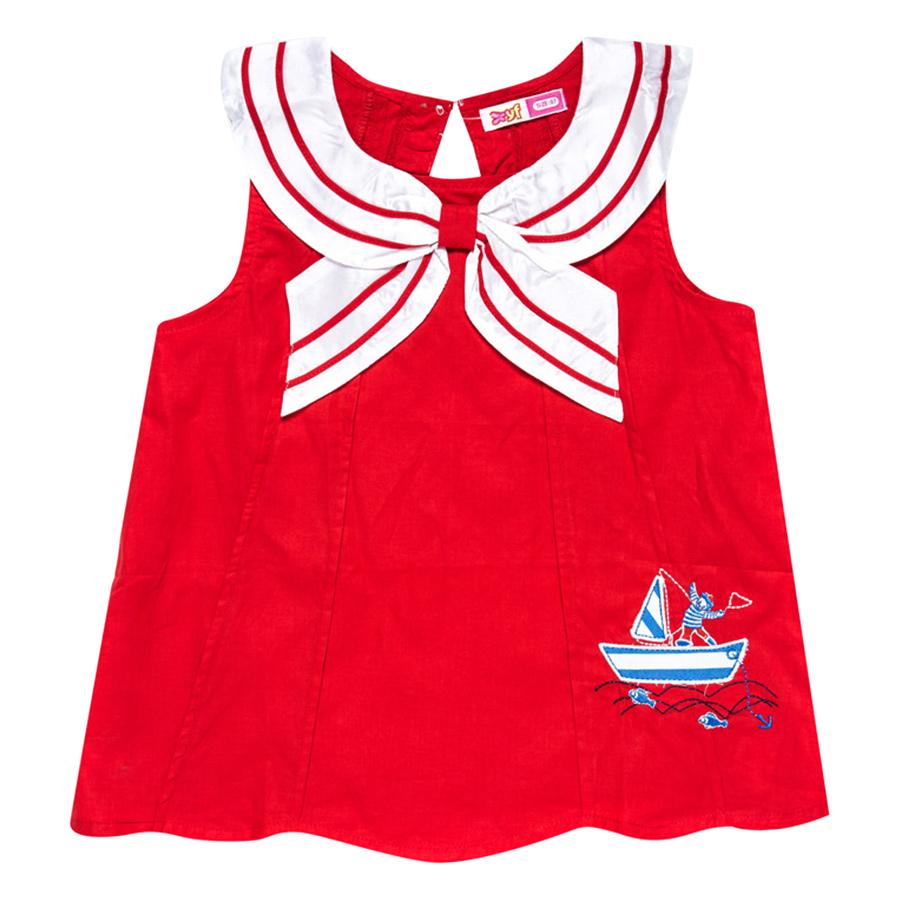 Áo Đỏ Cổ Trắng Thủy Thủ YF 5AX049 - Đỏ