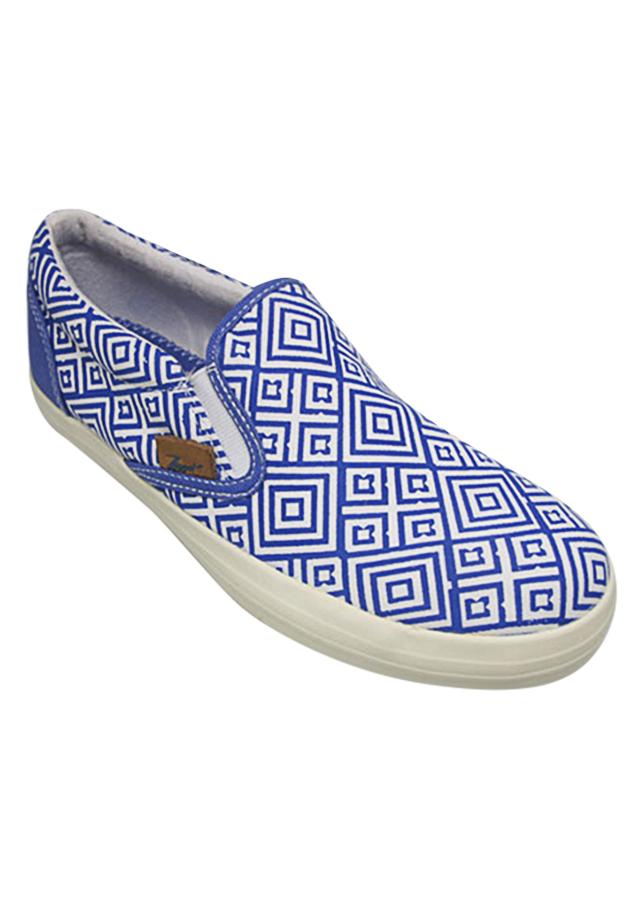Giày Slip On Nữ DA L1604 - Tím Xanh