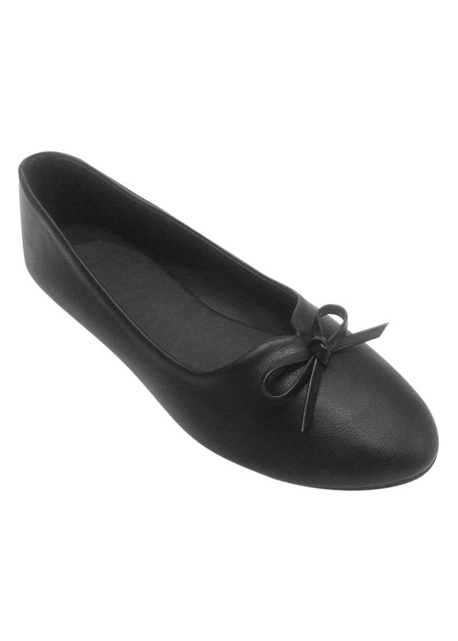 Giày Búp Bê Nơ Nữ Megirl 92302 - Đen