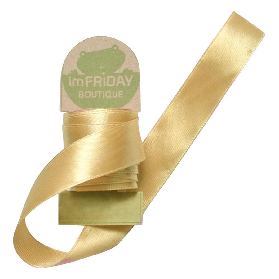Ruy Băng Lụa 2cm RB93 (3m) - Vàng Đồng