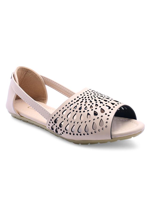 Giày Búp Bê Đế Bệt Họa Tiết Giọt Nước Cindydrella CD09K - Kem
