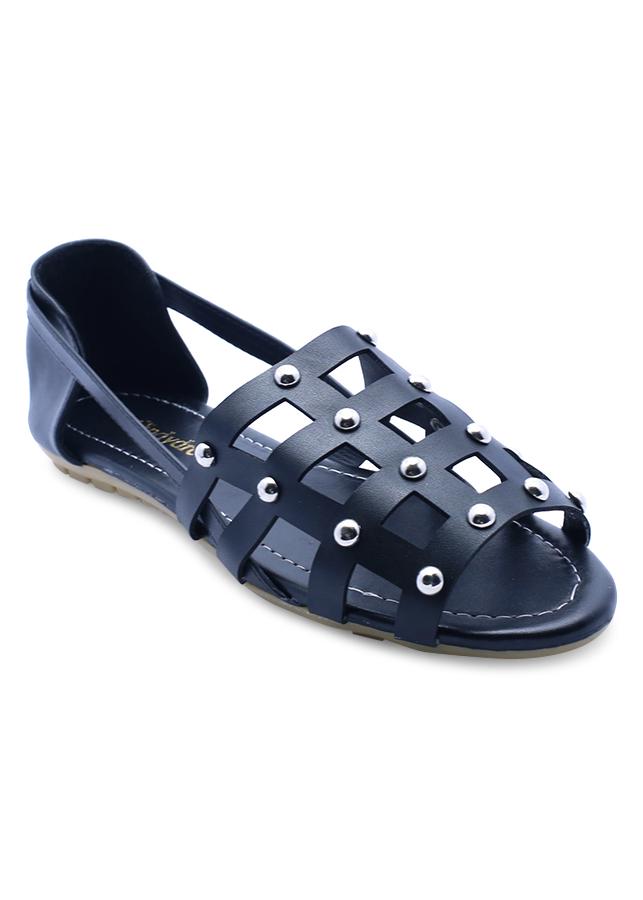Giày Búp Bê Đế Bệt Lưới Vuông Cindydrella CD17D - Đen