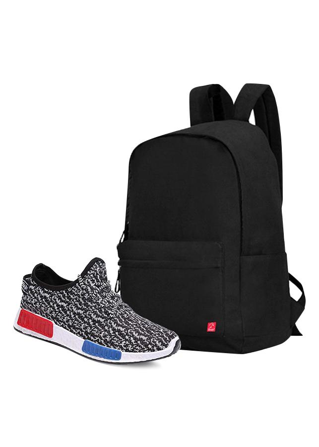 Combo Balo Classical BLL002BA + Giày Sneaker Thể Thao Nam GS048WH Glado CB061WH