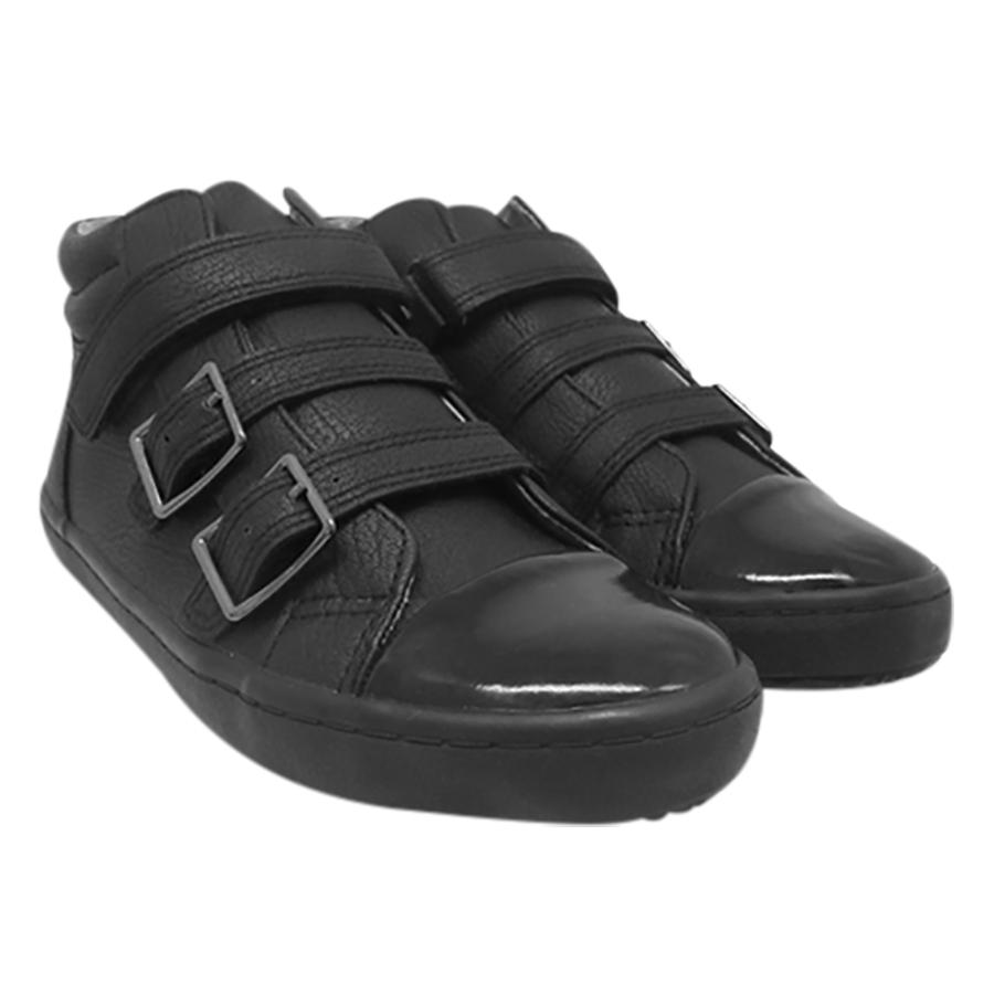 Giày Cổ Lửng Ba Quai Dán Bé Gái DA BG1605 - Đen