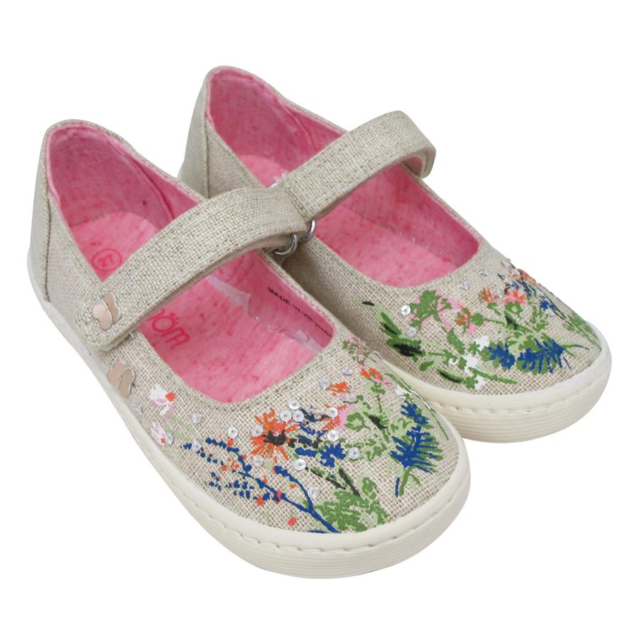 Giày Búp Bê Bé Gái Nomnom NG1601 - In Hoa