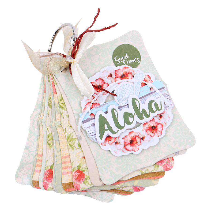 Mini Album Pattern Wild  Free Aloha  Fairy Corner MA12RE17