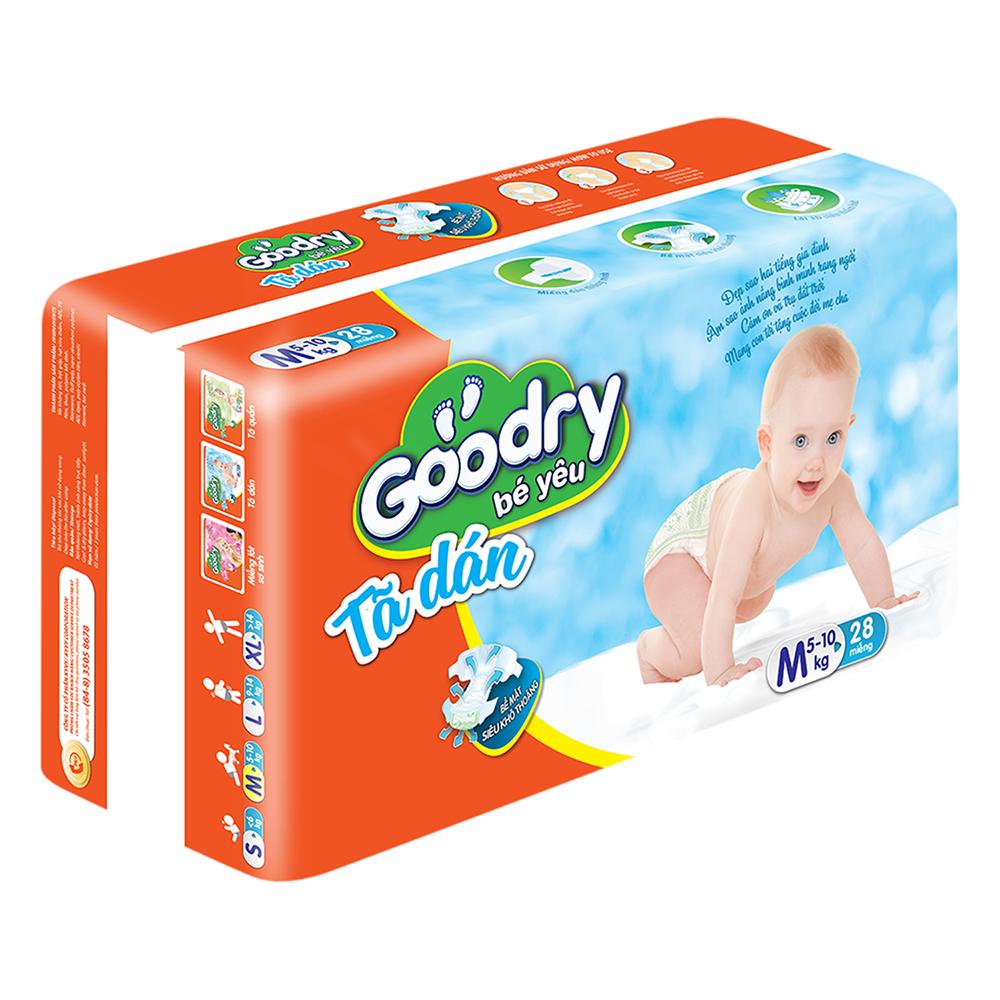 Tã Dán Goodry Size M28 (28 Miếng)