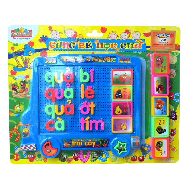 Bộ đồ chơi xếp hình sáng tạo 239 (L10-Vỉ Bảng Chữ Cái Tiếng Việt-Trái Cây) - M1383-LR - 7847241 , 5329027395179 , 62_614113 , 131000 , Bo-do-choi-xep-hinh-sang-tao-239-L10-Vi-Bang-Chu-Cai-Tieng-Viet-Trai-Cay-M1383-LR-62_614113 , tiki.vn , Bộ đồ chơi xếp hình sáng tạo 239 (L10-Vỉ Bảng Chữ Cái Tiếng Việt-Trái Cây) - M1383-LR