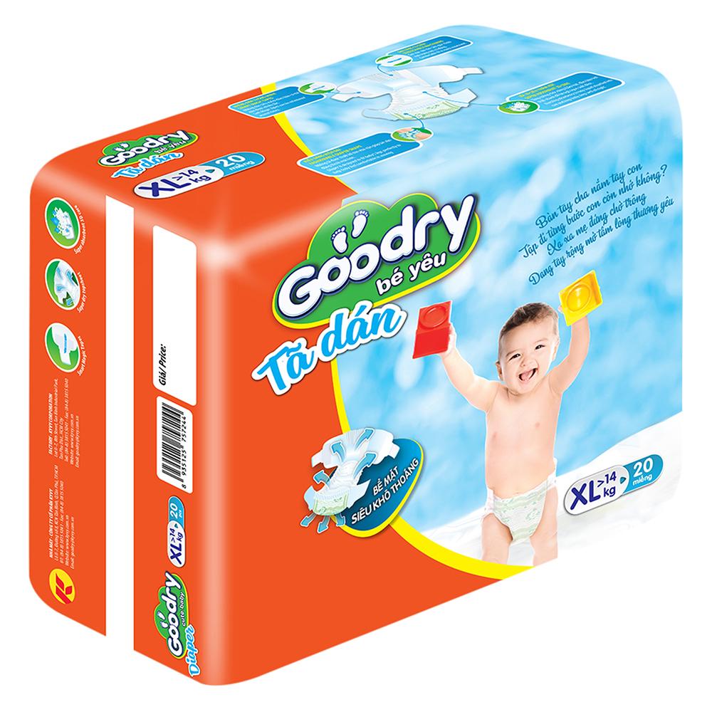 Tã Dán Goodry Size XL20 (20 Miếng)