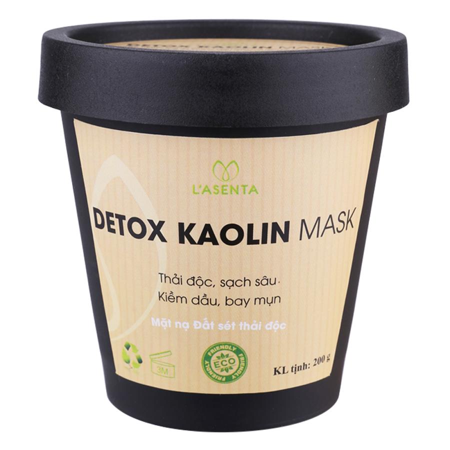 Mặt Nạ Thải Độc Kiềm Dầu L'asenta Detox Kaolin Mask (200g)