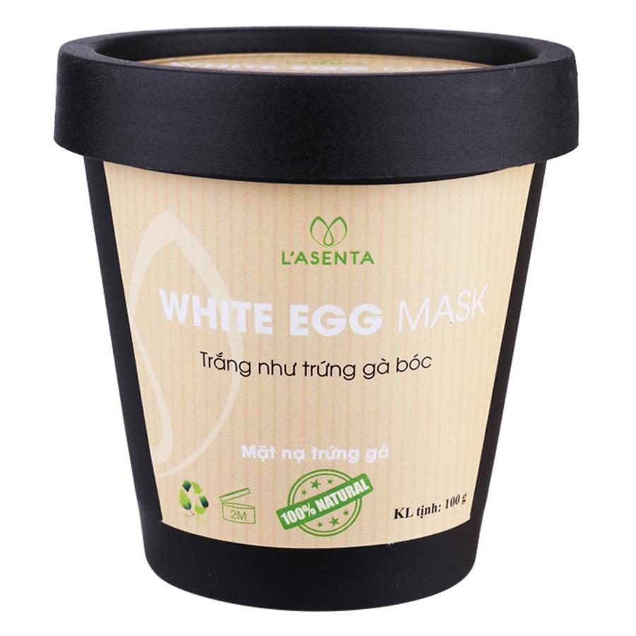 Mặt Nạ Trứng Gà L'asenta White Egg Mask (100g)