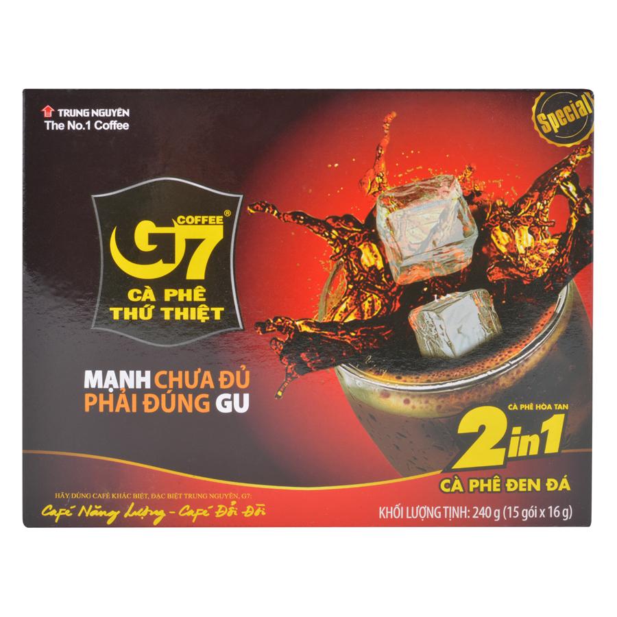 Cà Phê G7 2in1 Trung Nguyên (Hộp 15 Gói)