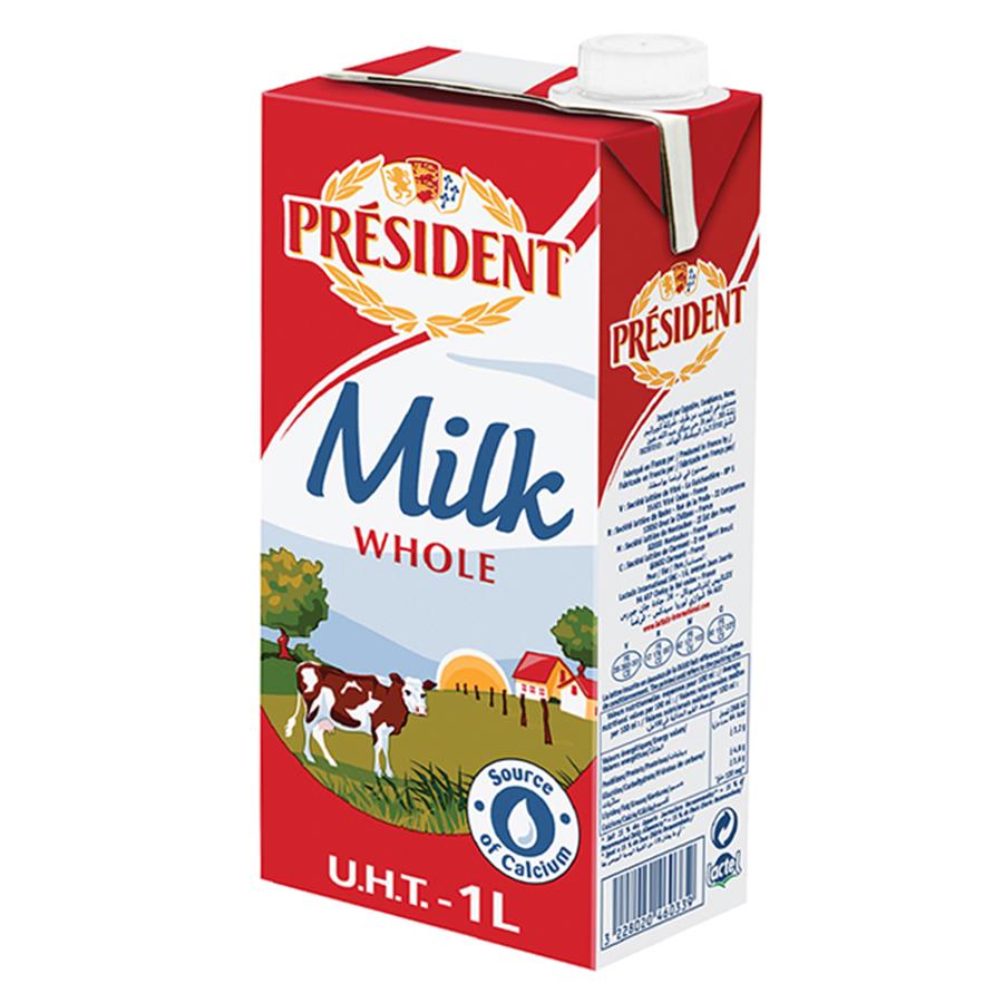 Sữa Tươi Tiệt Trùng Nguyên Chất President (1 lít)