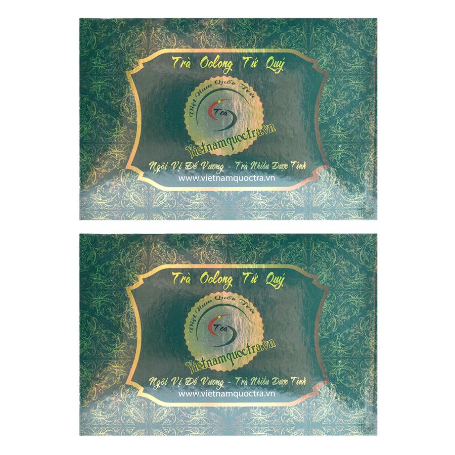 Bộ 2 Trà Ô Long Tứ Quý Việt Nam Quốc Trà (150g / Hộp) - 1989670 , 3729669214111 , 62_864092 , 172000 , Bo-2-Tra-O-Long-Tu-Quy-Viet-Nam-Quoc-Tra-150g--Hop-62_864092 , tiki.vn , Bộ 2 Trà Ô Long Tứ Quý Việt Nam Quốc Trà (150g / Hộp)