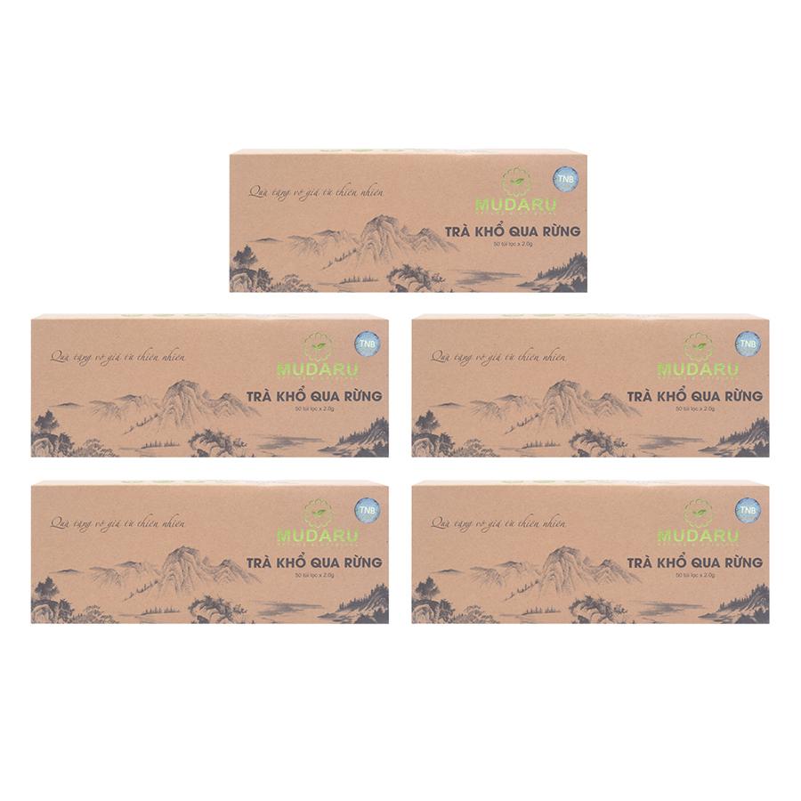 Bộ 5 Trà Túi Lọc Khổ Qua Rừng Mudaru (50 Túi / Hộp) - 9422987 , 4292176506950 , 62_14293448 , 1189000 , Bo-5-Tra-Tui-Loc-Kho-Qua-Rung-Mudaru-50-Tui--Hop-62_14293448 , tiki.vn , Bộ 5 Trà Túi Lọc Khổ Qua Rừng Mudaru (50 Túi / Hộp)