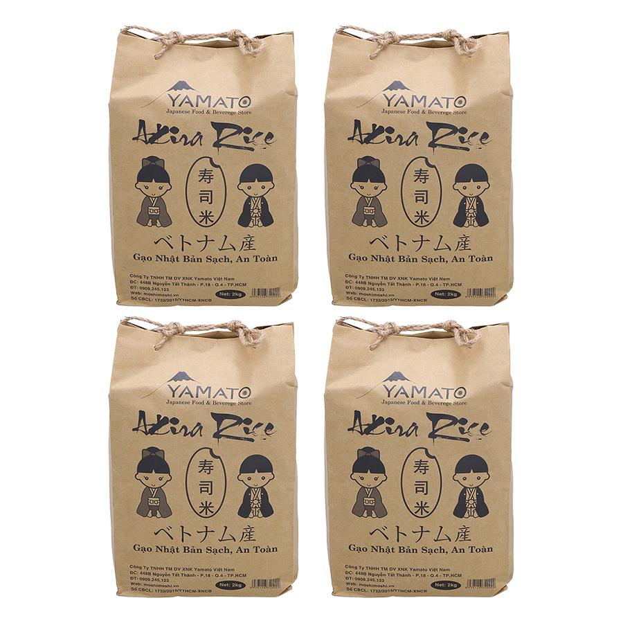 Combo 4 Bịch Gạo Nhật Akira Rice (2Kg / Bịch) - 5252349 , 3771251568423 , 62_767481 , 260000 , Combo-4-Bich-Gao-Nhat-Akira-Rice-2Kg--Bich-62_767481 , tiki.vn , Combo 4 Bịch Gạo Nhật Akira Rice (2Kg / Bịch)