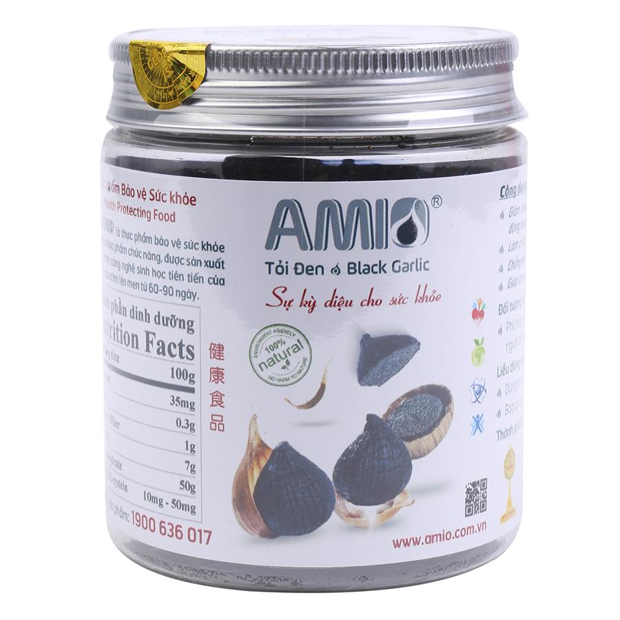 Tỏi Đen Đã Bóc Vỏ Amio Một Nhánh AMB125 (125g)