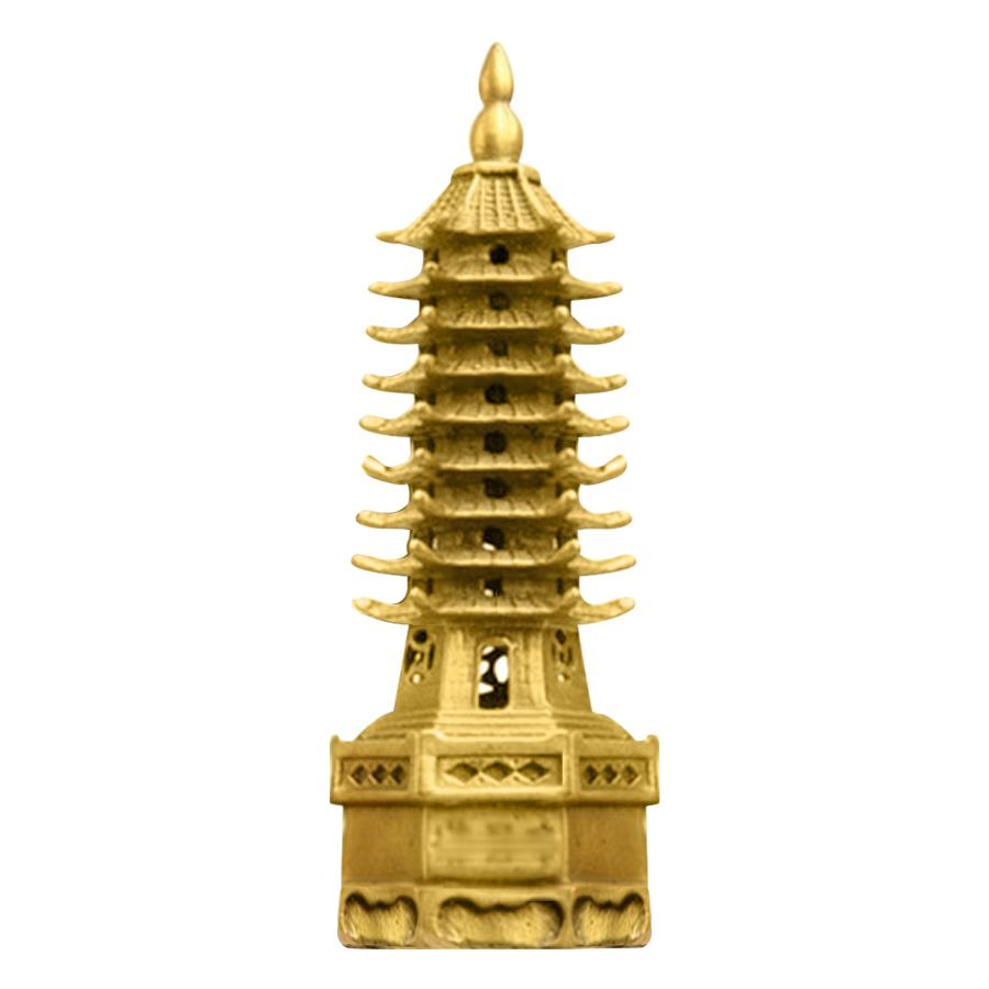 Tháp Văn Xương Đồng Thau Hồng Thắng (Cao 19cm) - Vàng