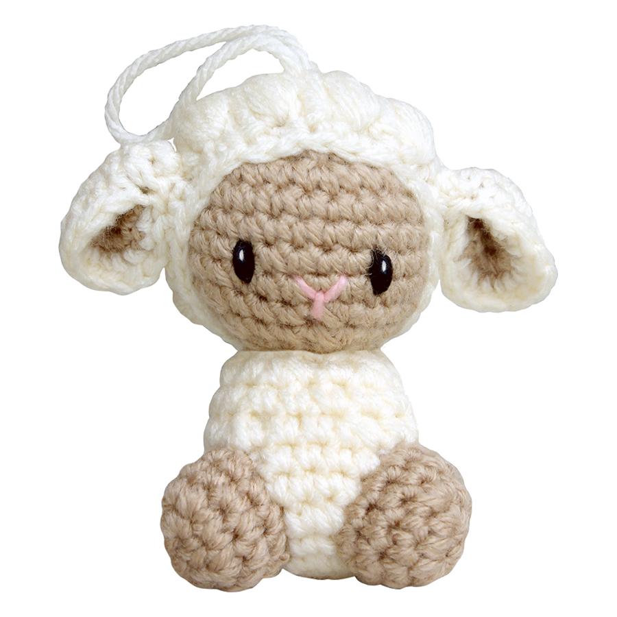 Thú Bông Cừu Kem Treo Noel Bobi Craft WT-137CRE-S