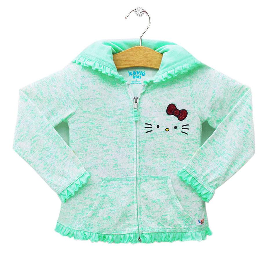 Áo Khoác Hello Kitty Bé Gái Kavio Kids GS21-N1 - Xanh Lá