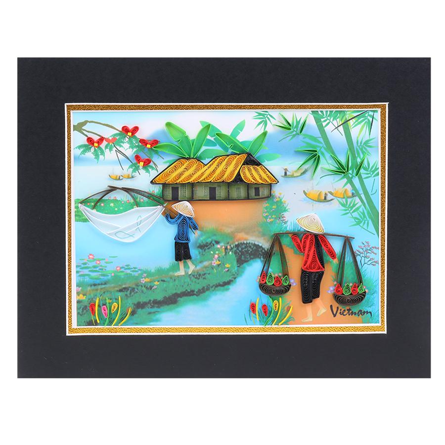 Tranh Giấy Xoắn Việt Nam 06